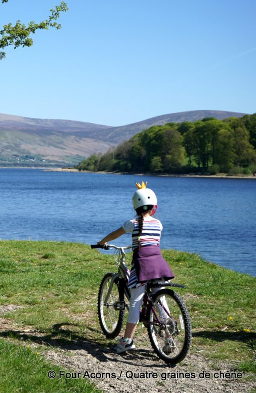 Blessington-lake-girl-cycling-Wicklow
