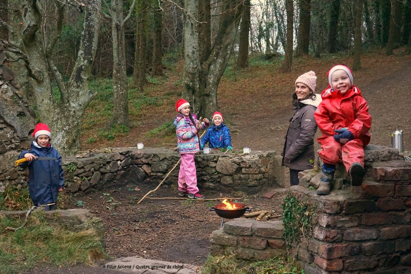family-octagon-wicklow-winter-firepit-santa-hats
