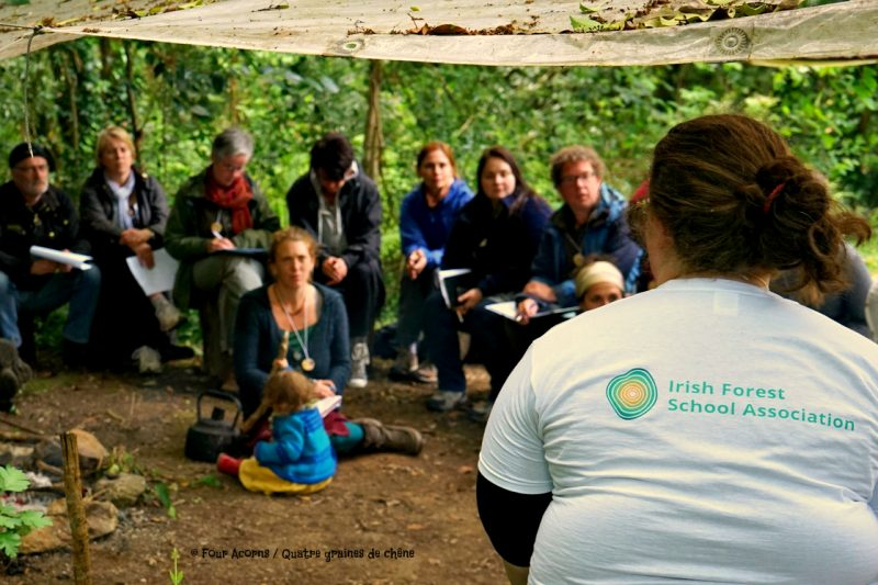 Irish National Heritage Park, IFSA, Irish Forest School Association, forest school, outdoor learning, Ireland, Irlande, école de la forêt