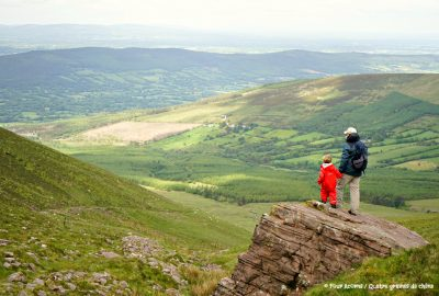 Glen of Aherlow, Tipperary, Ireland, Irlande, Galtee, Lough Curra, hiking, family, adventure, great outdoors, mountains, montagnes, plein air, randonnee, famille, father and son, père et fils