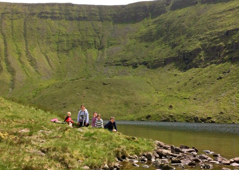 Glen of Aherlow, Tipperary, Ireland, Irlande, Galtee, Lough Curra, hiking, family, adventure, great outdoors, mountains, montagnes, plein air, randonnee, famille, lake, lac, corrie, lac glaciaire, cirque