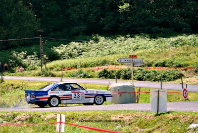 Opel Manta 400, rally racing, rallye, rally car, voiture de course, race car, rallye de la Fourme, France, Ambert, Puy-de-Dôme, car race, rallying