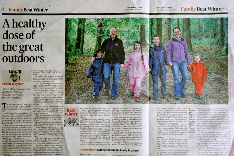 newspaper-article-family-outdoors-four-acorns