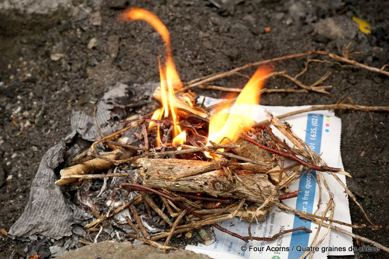 fire-campfire-outdoors-newspaper-flames