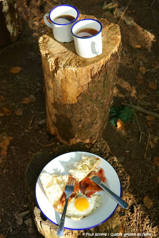 camping-breakfast-campfire-cooking-falcon-enamelware