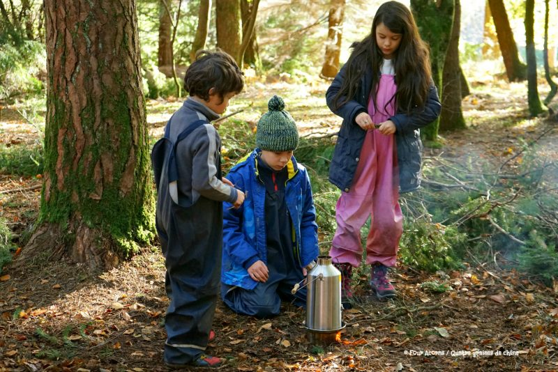 three-children-kelly-kettle-camping-outdoors