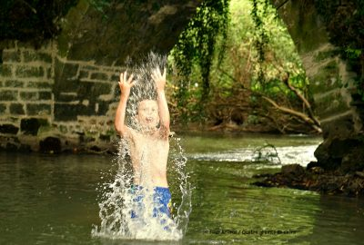 birthday, wild swim, Indre, Touraine, river, France, baignade, rivière, anniversaire, Pont Romain, Loches, Isle d'Auger, Val de Loire, Loire Valley, Roman bridge