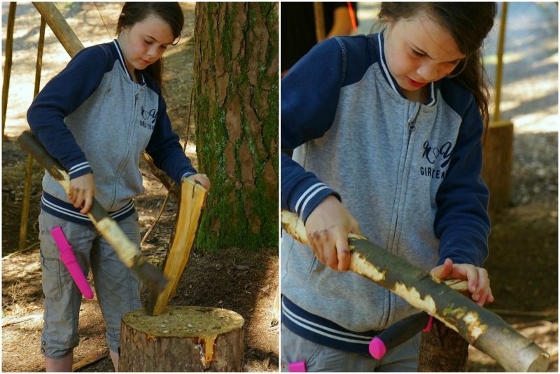 girl-chopping-wood-whittling-knife-stick