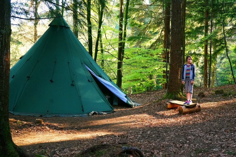tipi-adventures-camping-woods-forest-girl-wicklow-ireland