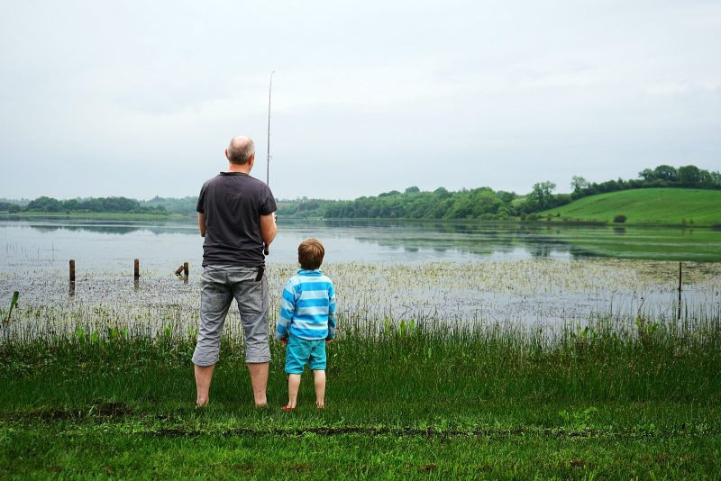 lough-oughter-father-son-fishing-row-campsite